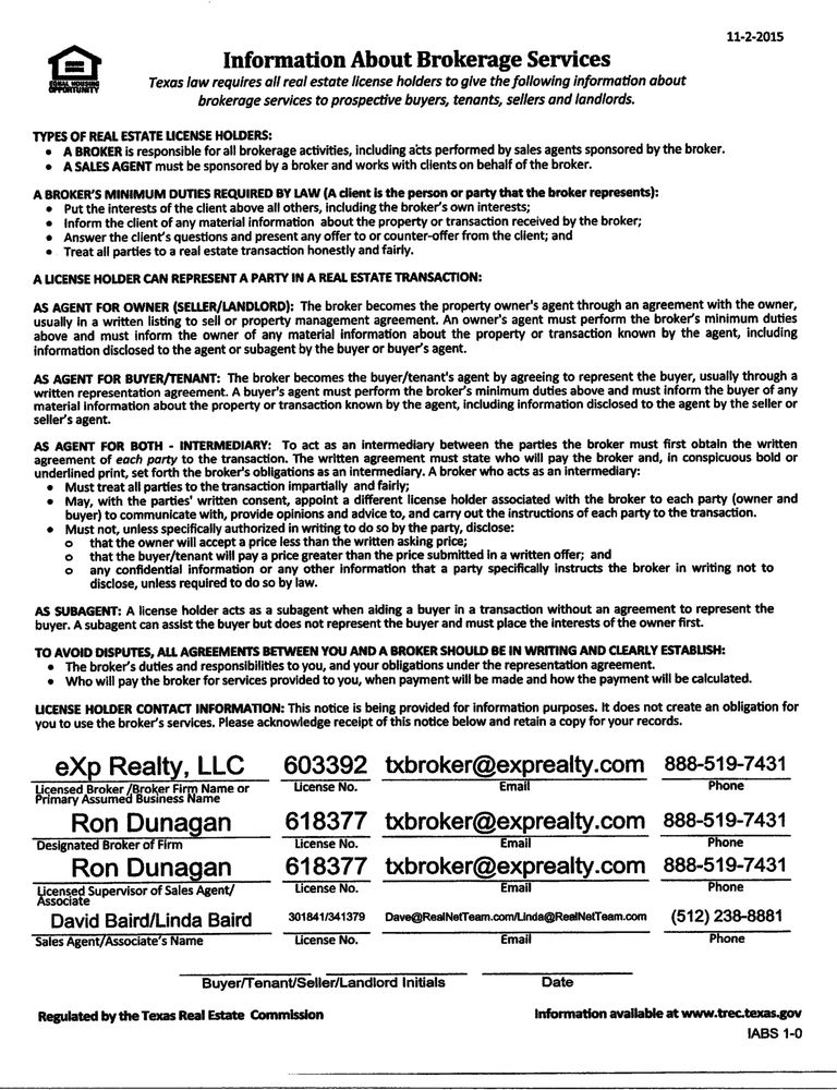 Buyer Representation Agreement Texas Images Agreement Letter Format