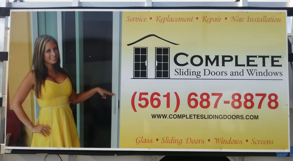 Complete Sliding Doors New Truck Sign Yelp