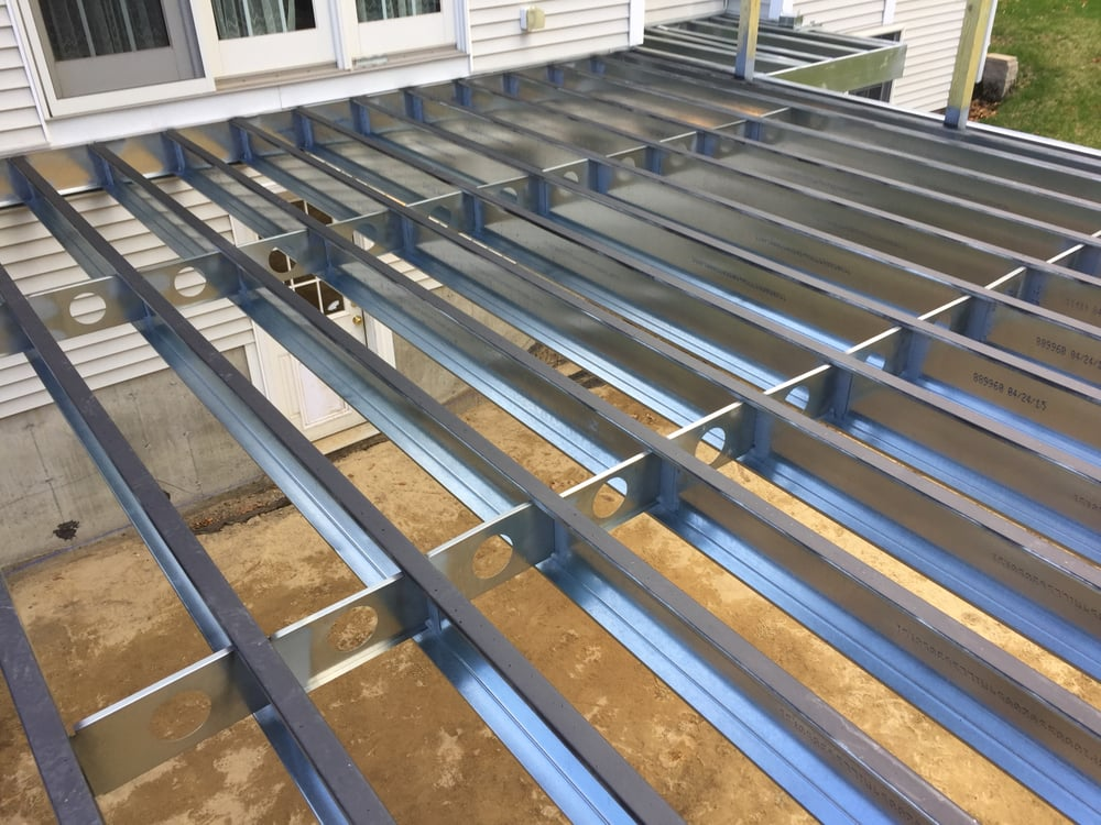 Steel Deck Boards ~ Steel frame decks yelp