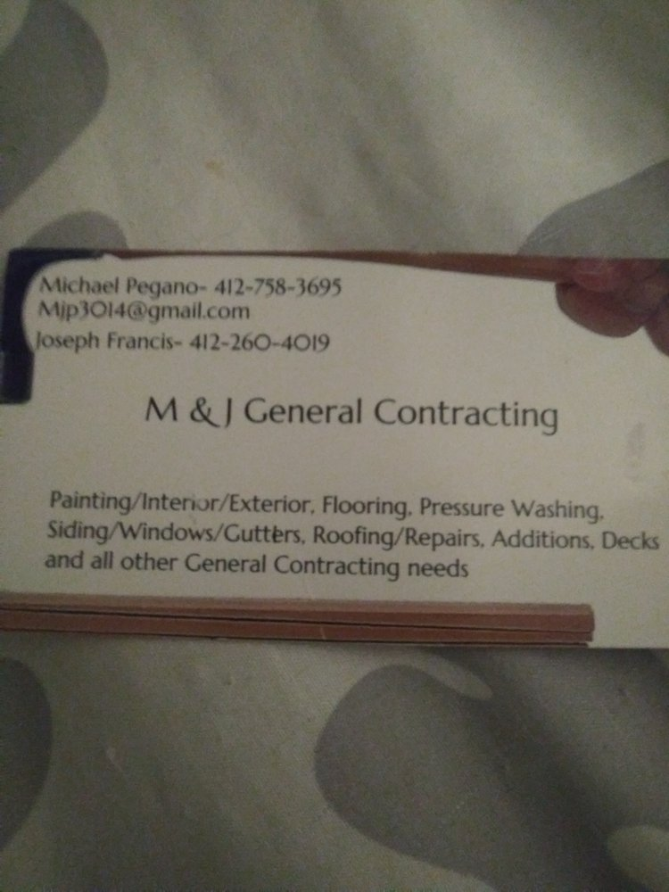 M & J General Contracting: Munhall, PA