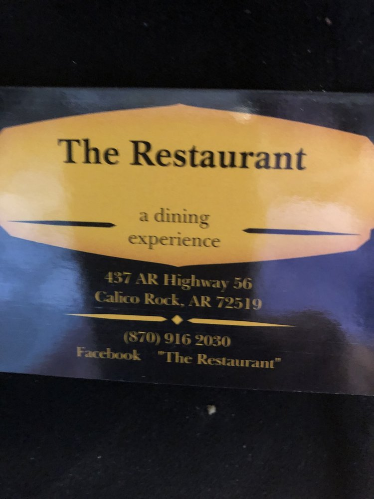 The Restaurant: 437 AR-56, Calico Rock, AR