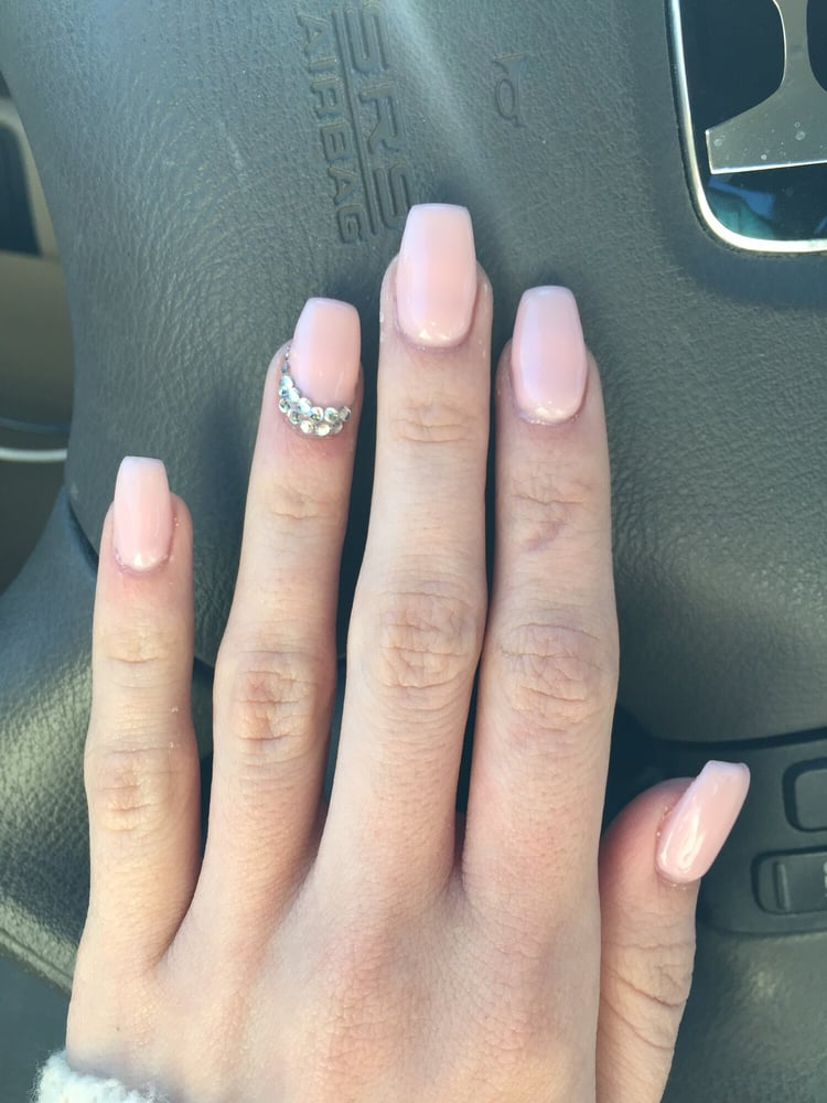 Photo Of Gigis Nails Sango Ca United States Light Pink Coffin