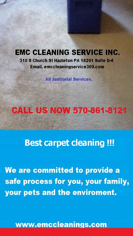 EMC Cleaning Service: 310 S Church St, Hazleton, PA