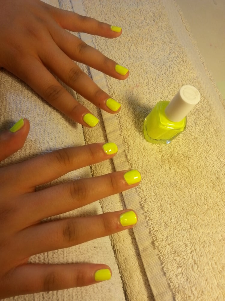 Neon Yellow Nail Polish Boots   Hession Hairdressing