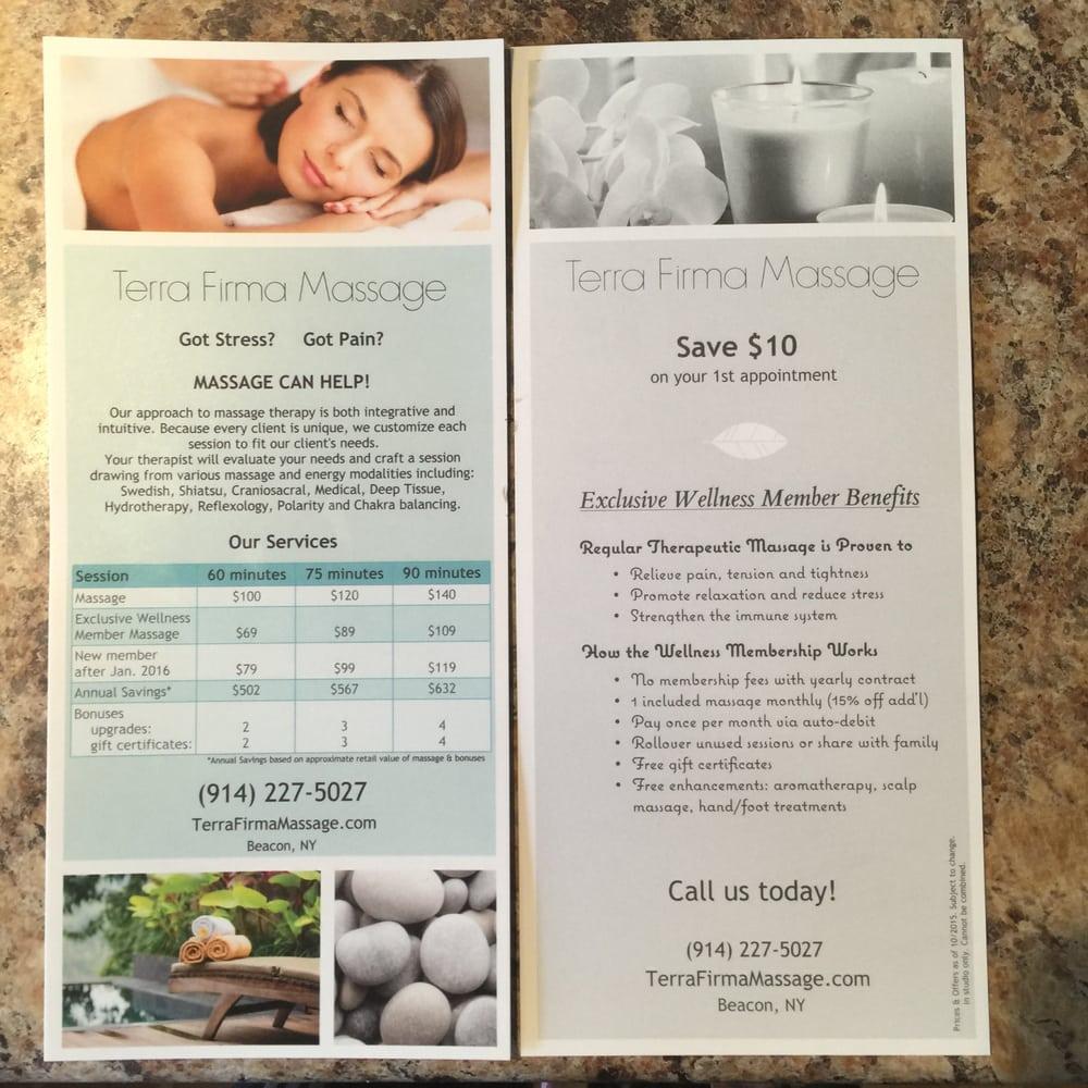 Terra Firma Massage: 60 W Center St, Beacon, NY