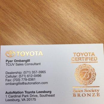 Photo Of Autonation Toyota Leesburg Va United States Please Ask For