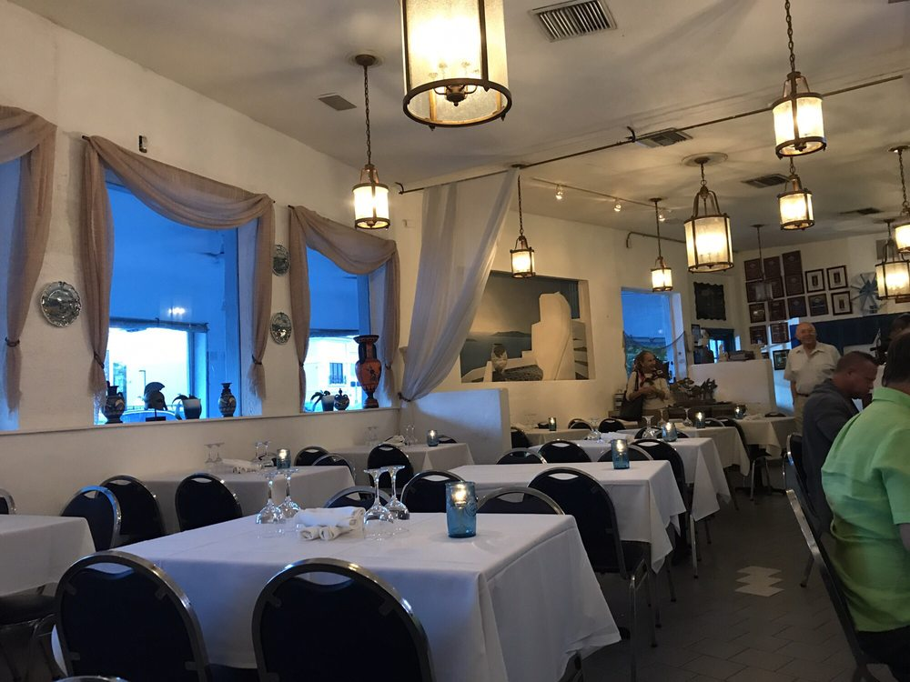 Photo Of Mykonos Greek Restaurant Miami Fl United States Dining Area
