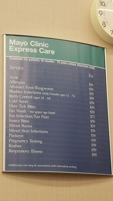 Mayo Clinic Express Care 500 Crossroads Dr SW Rochester, MN Medical