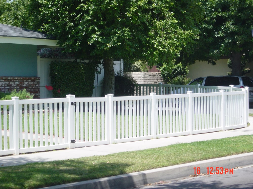 Closed Top Vinyl Picket Fence Yelp
