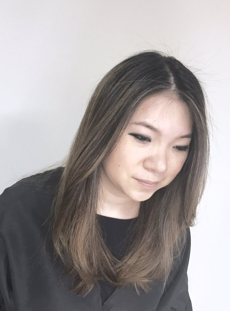 Bayalage Highlights On Asian Hair Ash Brown Also Did A Keratin