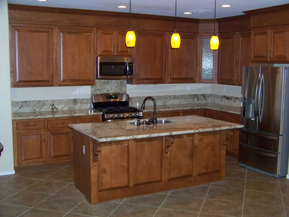 After solid maple raised panel doors new granite for Granite countertop support requirements