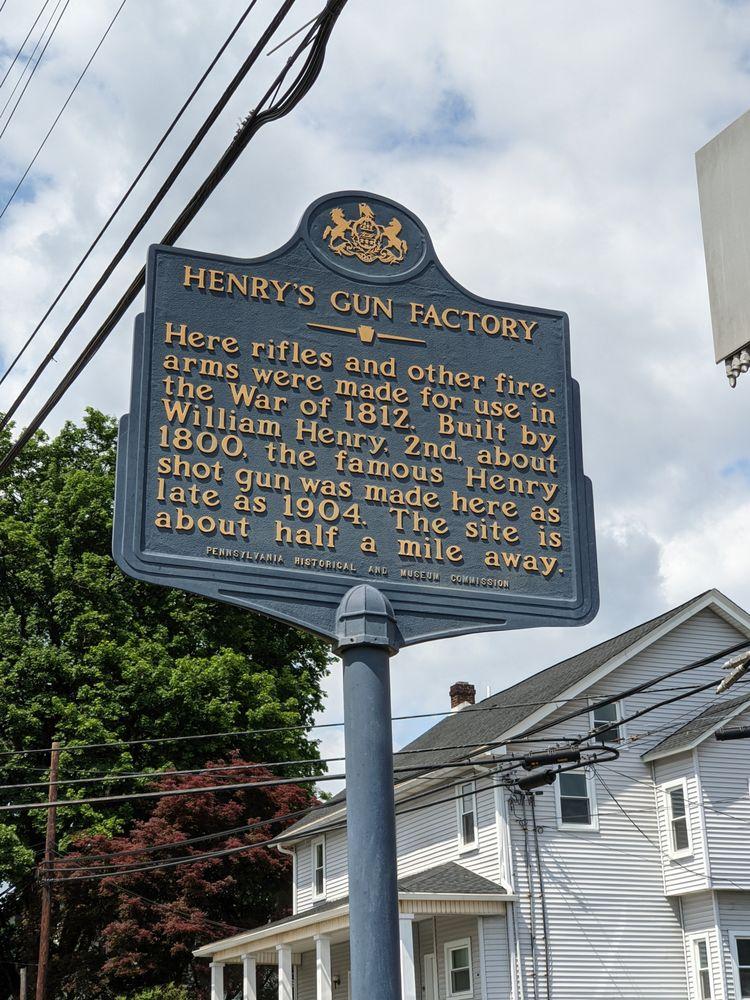 Henry's Gun Factory Historical Marker: Belfast, PA