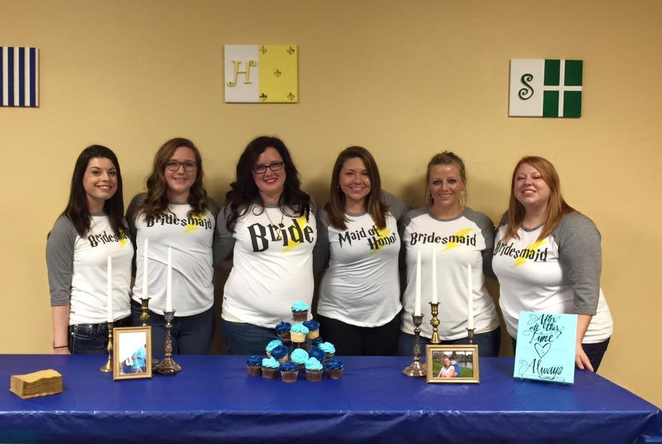 3bf5fe1fb Custom Bridal Party shirts made by Big Frog. Harry Potter themed. - Yelp