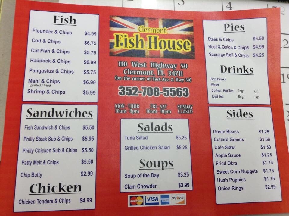 clermont fish house menu yelp