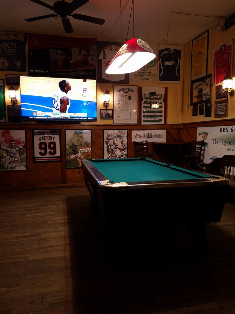 Photo of Mulligan's - Hoboken, NJ, United States. Pool table in the back.
