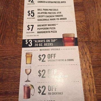 Rock bottom brewery happy hour