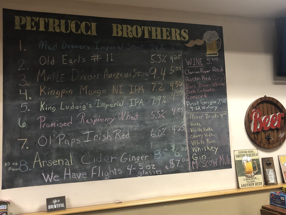 Petrucci Brothers Brewing: 911 5th Ave, New Brighton, PA