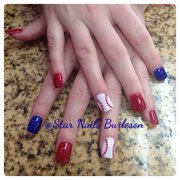 Photo Of Star Nails Burleson Tx United States Go Rangers