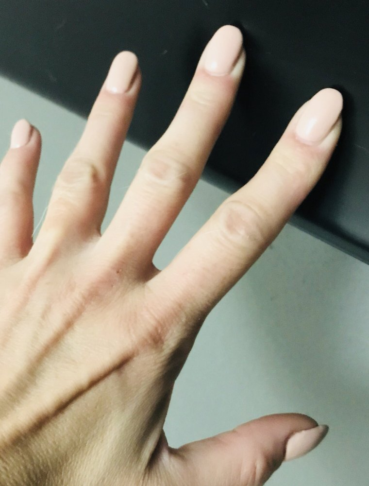 A thin layer of acrylic over natural nail with a gel polish. - Yelp