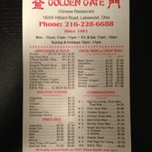 Golden Gate Chinese Restaurant 26 Reviews Chinese 16009