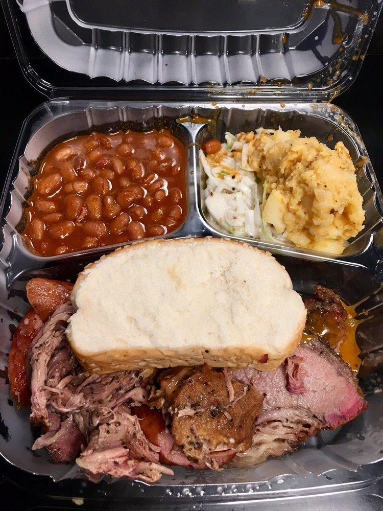 Food from The Salt Lick BBQ - Austin Airport