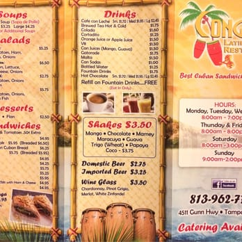 Conga S Latin Cafe Tampa Fl