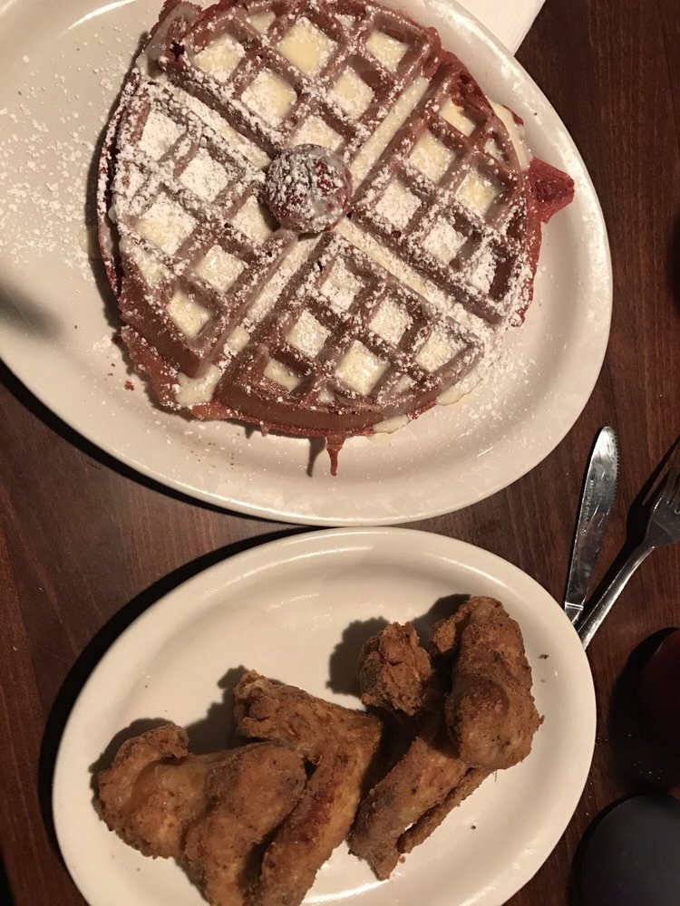 Food from Kiki's Chicken and Waffles
