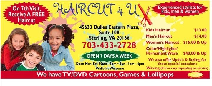 Haircut 4U: 45633 Dulles Eastern Plz, Sterling, VA