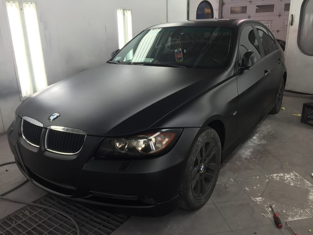 2006 Bmw 325xi Refinish Project Jet Black Matte After Front Custom Headlamp Tail Lamp Tint