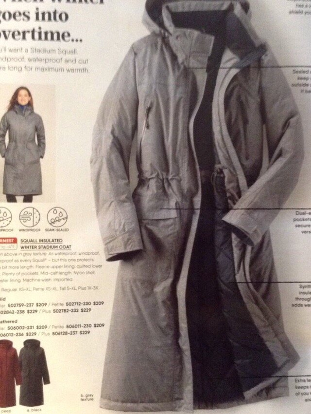 4d28d589373 Daughter s old Lands End coat she gave me. Very well made with lots of  pockets and features I love! 10 27 18 - Yelp