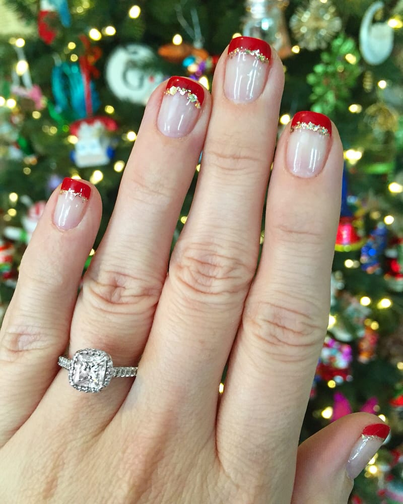 Holiday Gel Nail Designs: Simple Holiday Gel Nail Design By Joann. Photo Taken 1