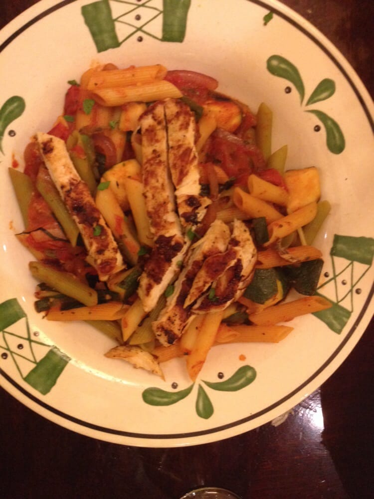 Cucina mia option of tricolor penne with primavera sauce grilled chicken yelp Olive garden italian restaurant new york ny