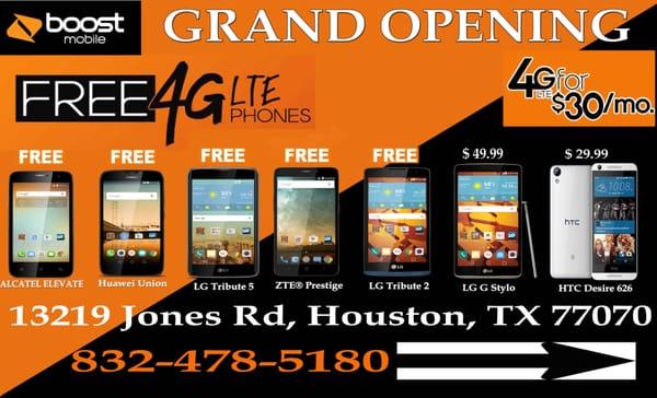 boost mobile 13219 jones rd houston tx cellular phone services