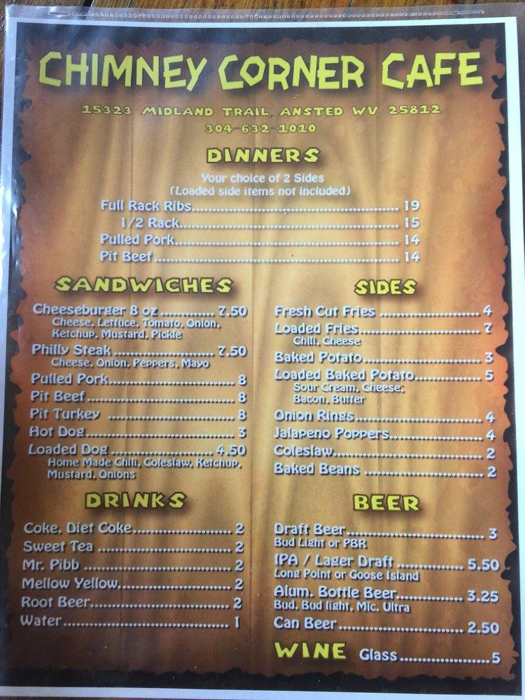 Chimney Corner Cafe: 15328 Midland Trl, Ansted, WV