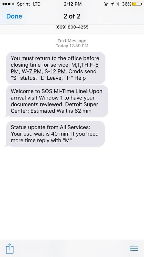 Secretary of State: 3046 W Grand Blvd, Detroit, MI