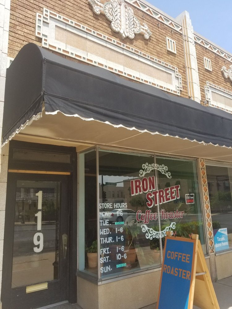 Iron Street Coffee Roaster: 119 E Iron Ave, Salina, KS