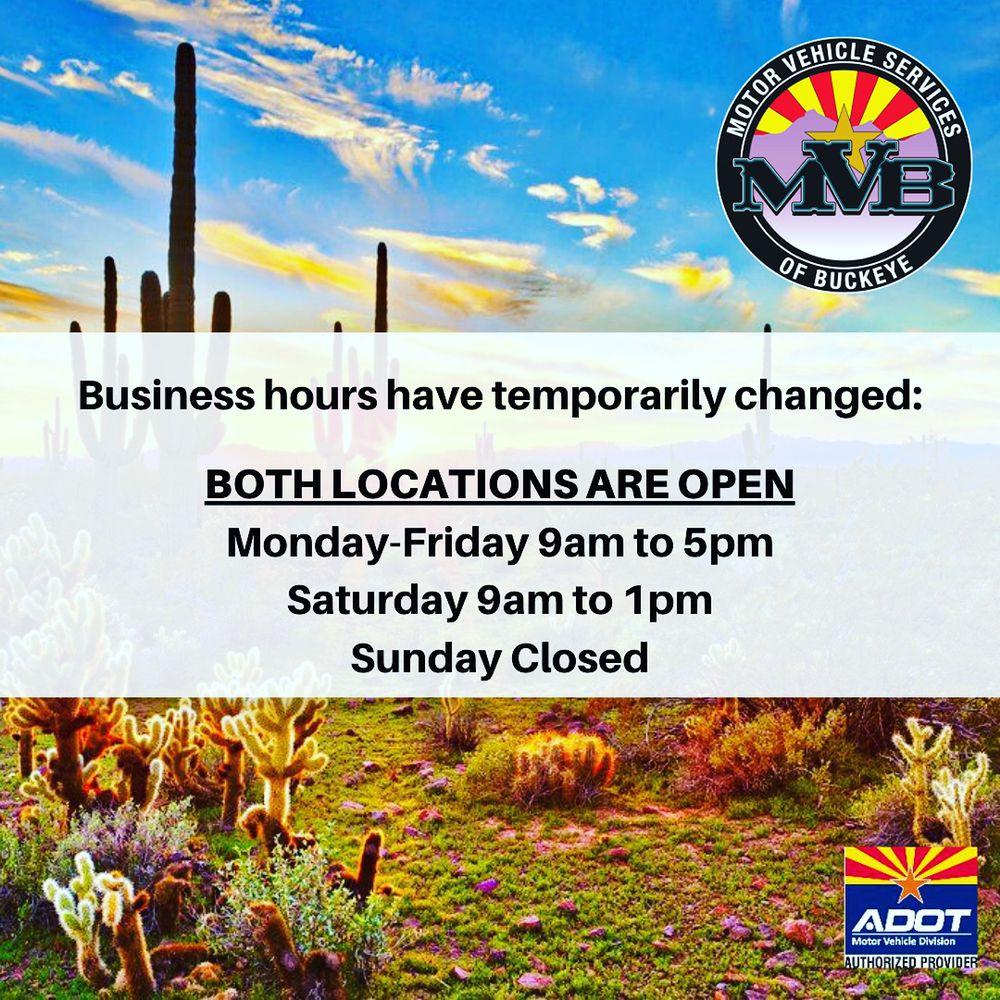 MVB Motor Vehicle Services of Buckeye: 1300 S Watson Rd, Buckeye, AZ