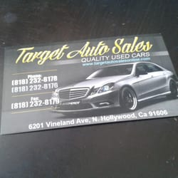 Target auto sales car dealers 6201 vineland ave north hollywood photo of target auto sales north hollywood ca united states business card reheart Image collections
