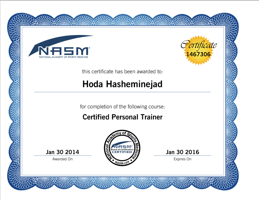 Nasm Cpt Certification Yelp
