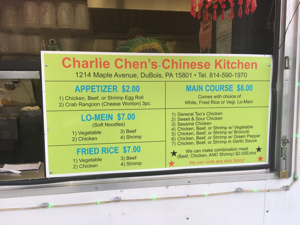 Charlie Chen's Chinese Kitchen: 1214 Maple Ave, DuBois, PA