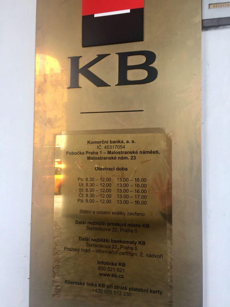 Komercni Banka Bank Building Societies Malostranske Namesti 23
