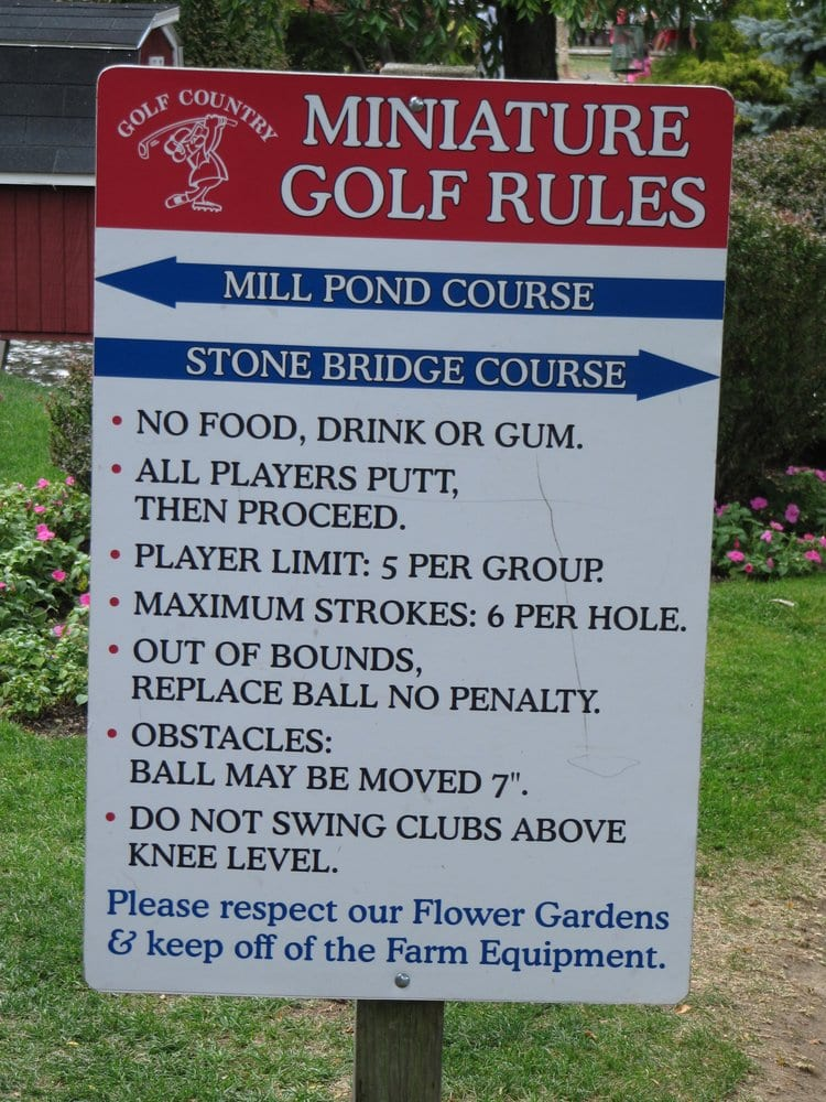 how to play mini golf rules
