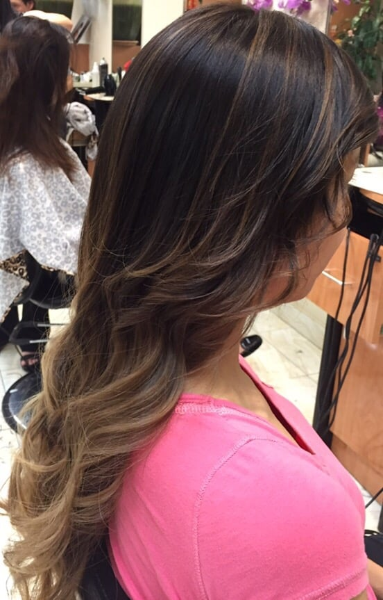 Balayage Ombre Bottom Dark Ash Blonde Hair W Highlights From Top I