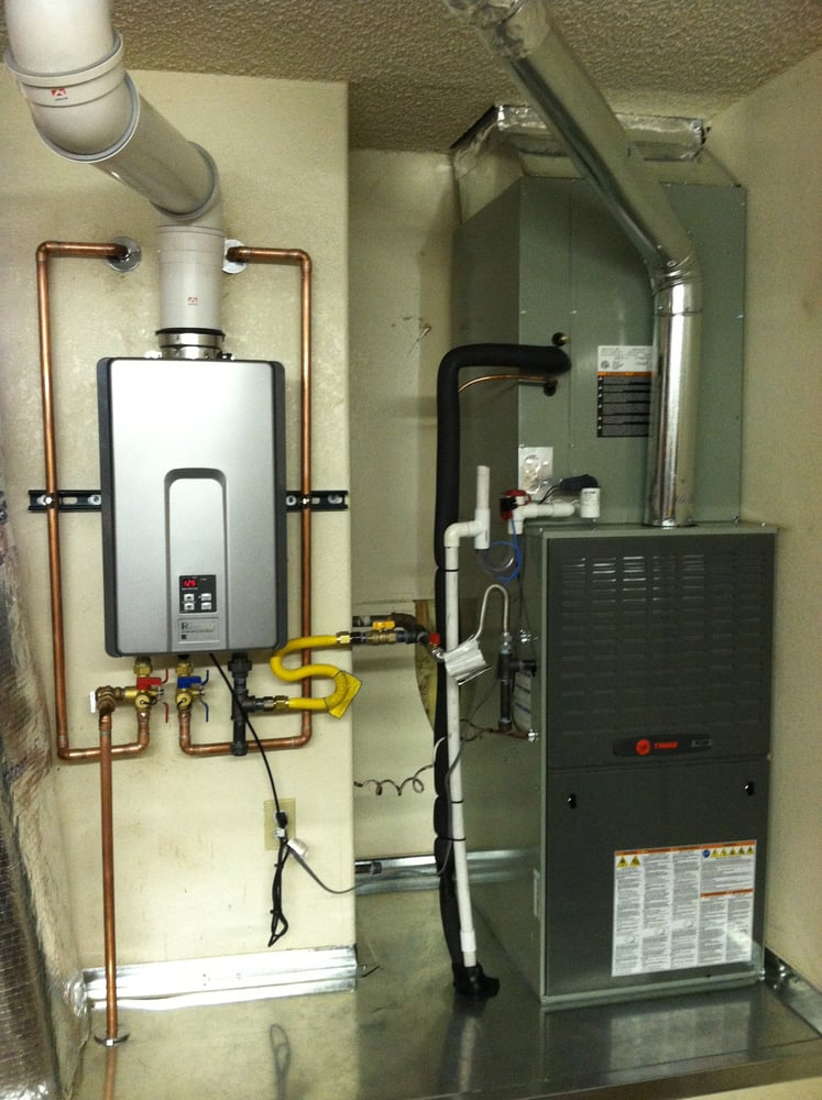 Rinaii Tankless Water Heater And Trane High Efficiency
