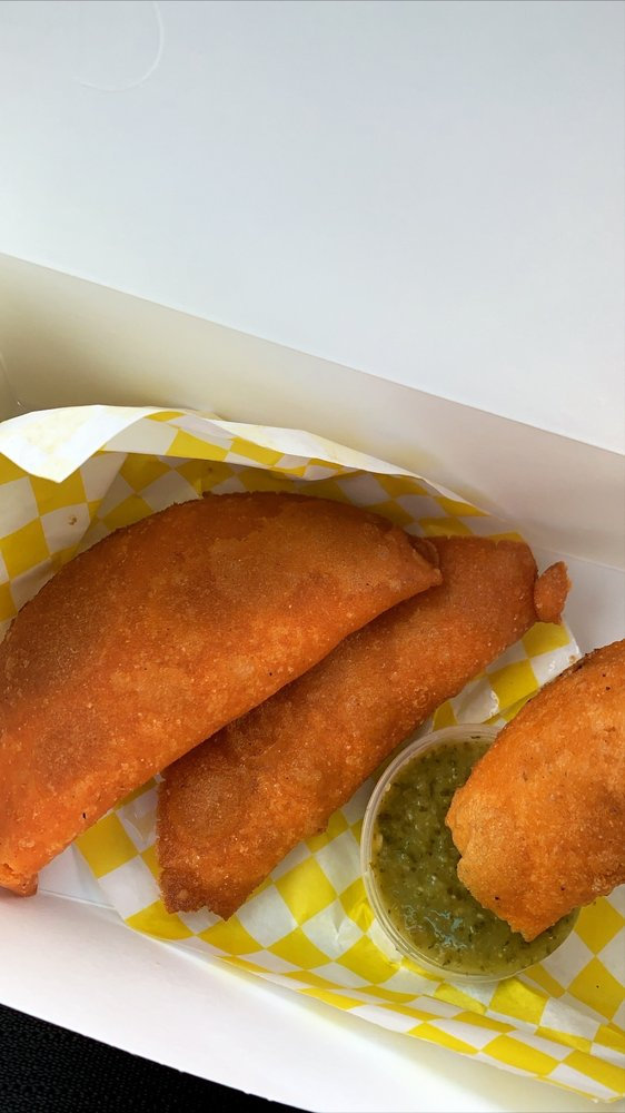 Food from The Arepa Bar