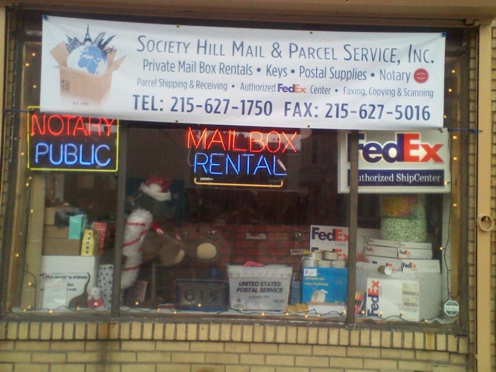 Society Hill Mail & Parcel Service - Mailbox Centers - 614 S 8th St
