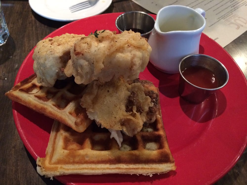 tuc craft kitchen chicken and waffles so yum 17 yelp 3139
