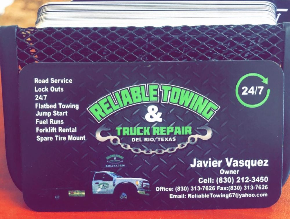 Reliable Towing & Truck Repair: 4492 E Hwy 90, Del Rio, TX