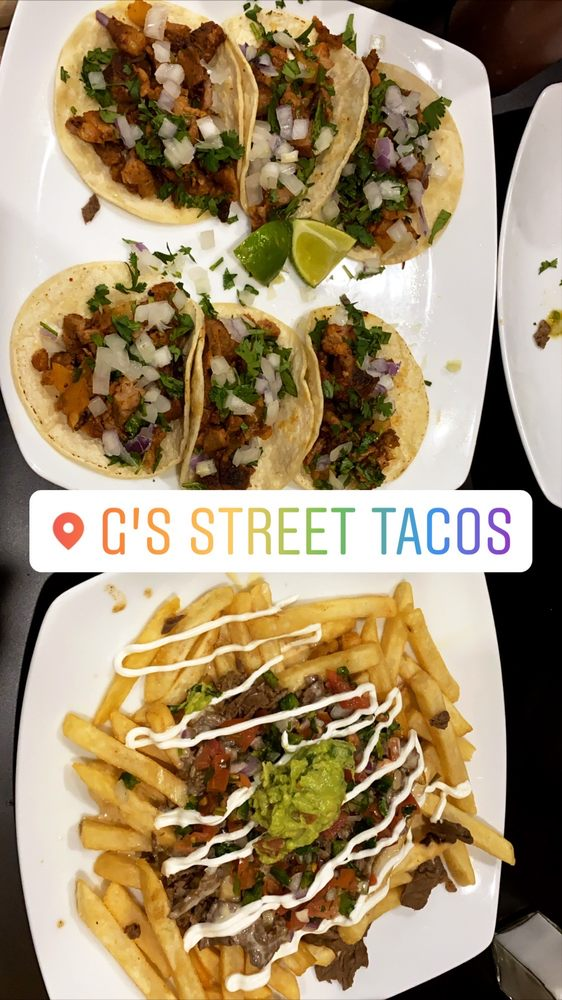 Food from G's Street Tacos