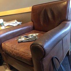 Photo Of Starbucks   Spokane, WA, United States. Three Really Old Brown  Chairs